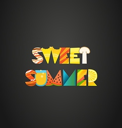 Sweet summer concept of color letters vector image vector image