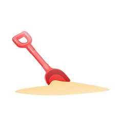 Icon shovel vector