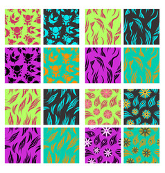 assembly of patterns in bright style vector image