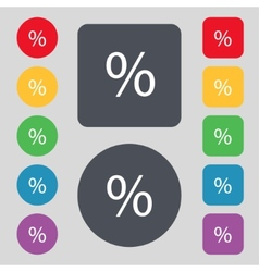 Discount percent sign icon modern interface vector