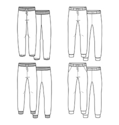 Girls trousers vector