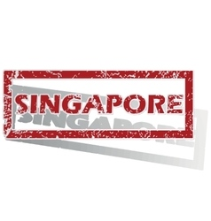 Singapore outlined stamp vector