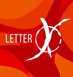 Logo letter x on a red background vector