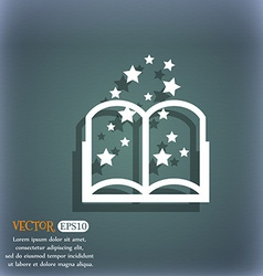 Magic book sign icon open book symbol on the vector