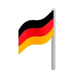 Germany flag isometric 3d icon vector