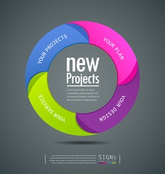 Design colorful projects circle vector image