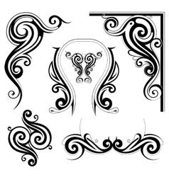 Art nouveau style elements vector