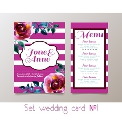 A set weddings invitation vector