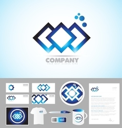 Abstract company corporate identity template logo vector image