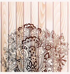 abstract floral elements in indian vector image