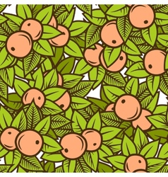 apple pattern vector image