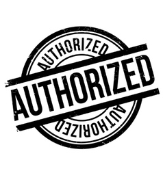 Authorized stamp rubber grunge vector