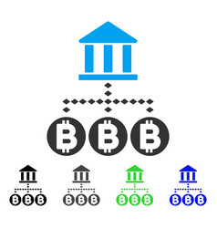 bitcoin bank structure flat icon vector image vector image