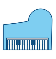 Classic piano instrument vector
