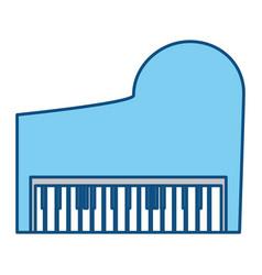 Classic piano instrument vector