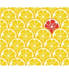 Cute seamless pattern with yellow lemon slices vector image vector image