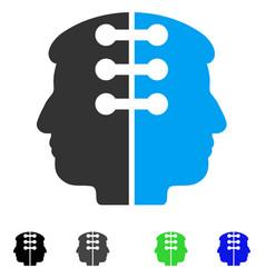 Dual head interface flat icon vector