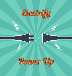 Electricity vintage theme vector