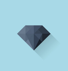 Flat web icon Black diamond vector image