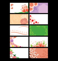 flower greeting card vector image vector image