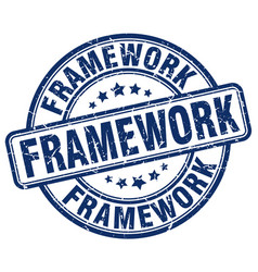 Framework blue grunge stamp vector