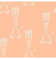 Funny seamless pattern with giraffe baby giraffe vector