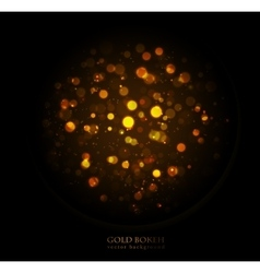 Magic sparkle gold dots on dark background vector image
