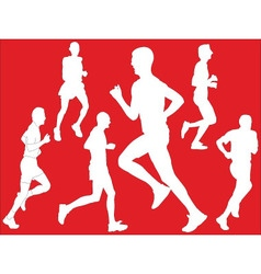 marathon with background - vector image vector image