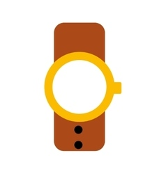 Masculine hand watch icon vector