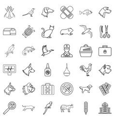 medical icons set outline style vector image vector image