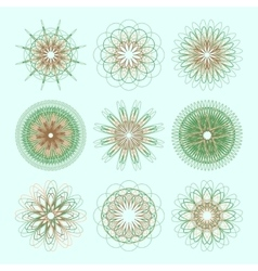 Round ornament set circle ornament vector