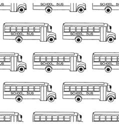 School bus seamless pattern vector image