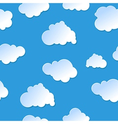 seamless cute cartoon paper or plastic clouds sky vector image