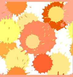 Seamless pattern with ink and paint spots vector