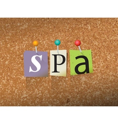 Spa Concept vector image vector image