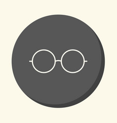 Sunglasses round linear icon with the vector