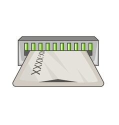 Taking card icon cartoon style vector image
