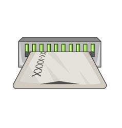 Taking card icon cartoon style vector