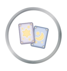 Tarot cards icon in cartoon style isolated on vector