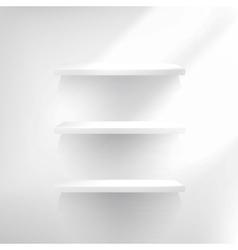 Three Empty Shelf For Exhibit vector image