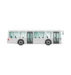 transport picture of isolated urban public bus vector image