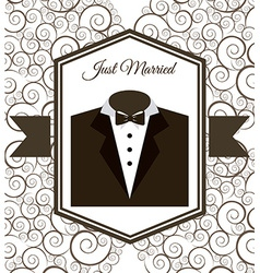 Wedding card vector