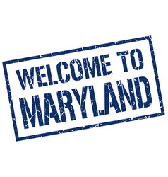 Welcome to maryland stamp vector