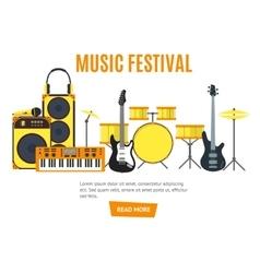 Musical banner vector