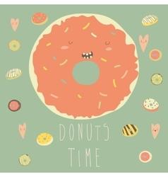 Donut with glaze vector