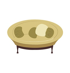 Icon couch vector