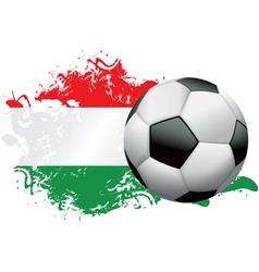 Hungary soccer grunge vector