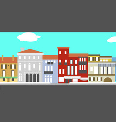 European cityscape in simple style vector