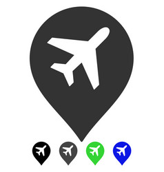 Airport marker flat icon vector
