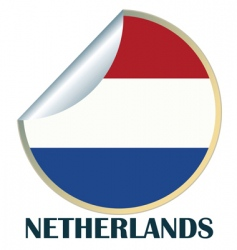 netherlands sticker vector image